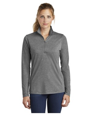 Ladies PosiCharge Tri-Blend Wicking 1/4-Zip Pullover.