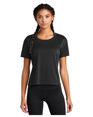 Ladies PosiCharge Tri-Blend Wicking Draft Crop T-Shirt