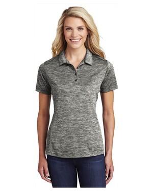 Ladies PosiCharge  Electric Heather Polo Shirt