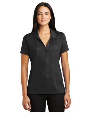 Ladies Embossed PosiCharge  Tough Polo Shirt