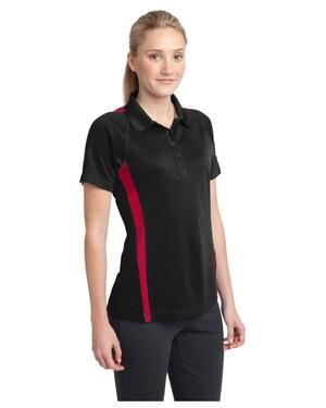 Ladies Micro-Mesh Colorblock Polo Shirt