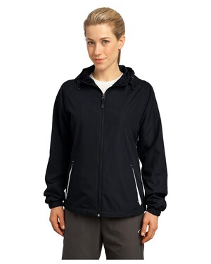 Ladies Colorblock Hooded Jacket.