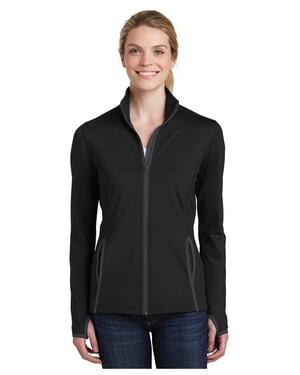 Ladies Sport-Wick  Stretch Contrast Full-Zip Jacket
