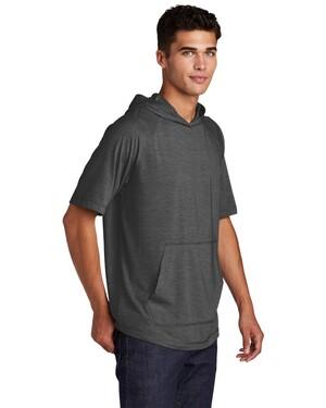 PosiCharge Tri-Blend Wicking Short Sleeve Hoodie.