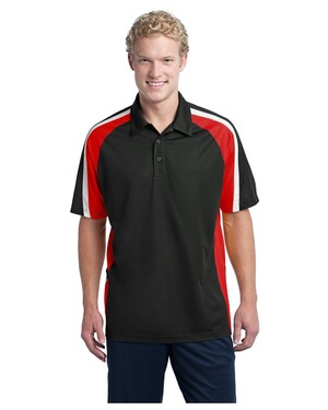 Tricolor Micropique Sport-Wick Polo Shirt