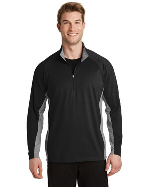 Sport-Wick  Stretch Contrast 1/2-Zip Pullover
