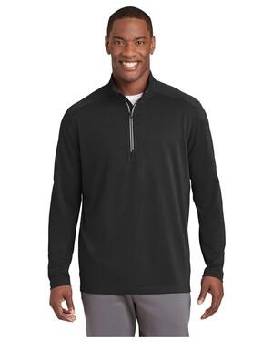 Sport-Wick  Textured 1/4-Zip Pullover.