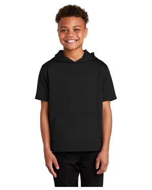 Youth Sport-Wick Fleece Short Sleeve Hoodie