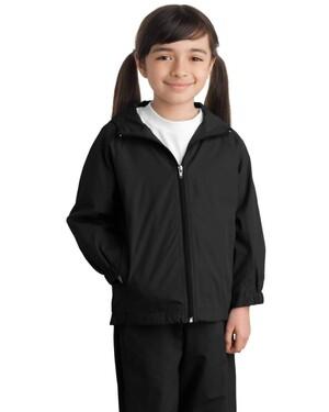 Youth Hooded Raglan Jacket.