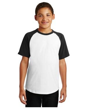 Youth Short Sleeve Colorblock Raglan Jersey.