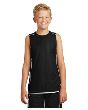 Youth PosiCharge Mesh Reversible Sleeveless T-Shirt