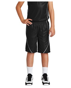 Youth PosiCharge Mesh; Reversible Spliced Short.