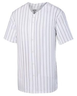 Pinstripe Full-Button Baseball Jersey