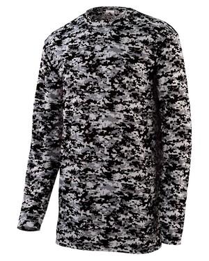 Digi Camo Wicking Long Sleeve T-Shirt