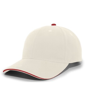 Brushed Twill Cap With Sandwich Bill