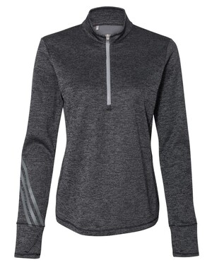 Women's Brushed Terry Heathered Quarter-Zip Pullover