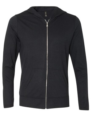 Triblend Full-Zip Hooded Long Sleeve T-Shirt