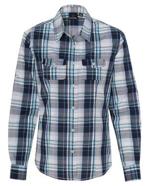 Women's Long Sleeve Plaid Shirt