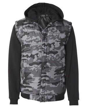Nylon Vest with Fleece Sleeves