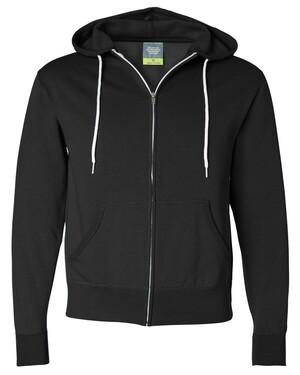 Unisex Lightweight Full-Zip Hooded Sweatshirt
