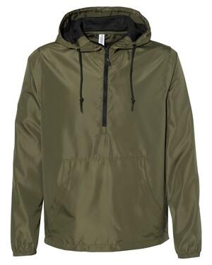 Unisex Lightweight Quarter-Zip Windbreaker Pullover Jacket