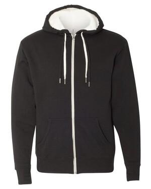 Unisex Sherpa-Lined Hooded Sweatshirt