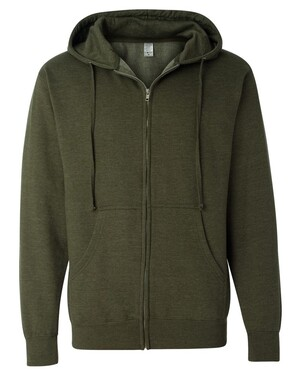Midweight Full-Zip Hooded Sweatshirt