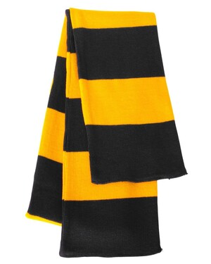 Rugby-Striped Knit Scarf