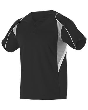 Adult 2 Button Henley Baseball Jersey