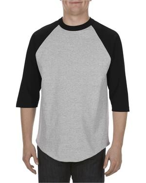 Adult 6.0 oz. 100% Cotton 3/4 Raglan T-Shirt