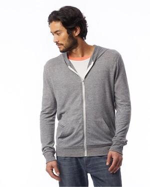 Unisex Eco-Jersey Zip-Up T-Shirt Hoodie