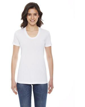 Women's Poly-Cotton Crew Neck T-Shirt