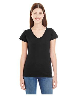Lightweight Ladies' Fitted V-Neck T-Shirt