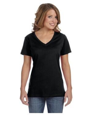 Women's 3.2 oz. Sheer V-Neck T-Shirt