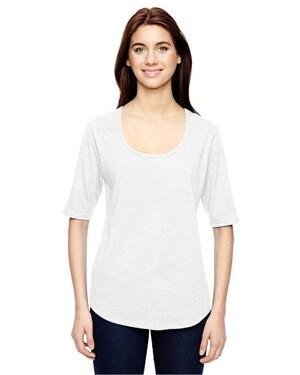 Women's Triblend Deep Scoop Half-Sleeve T-Shirt