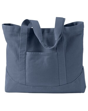 Pigment-Dyed Large Canvas Tote Bag