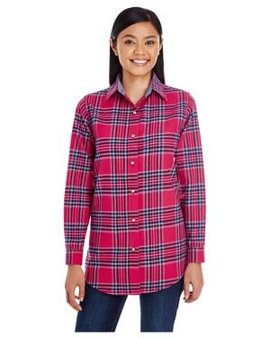 Ladies' Yarn-Dyed Flannel Shirt