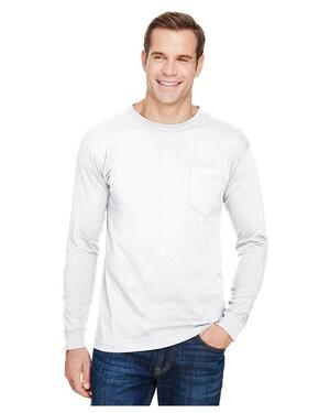 Unisex Union-Made Long-Sleeve Pocket Crew T-Shirt