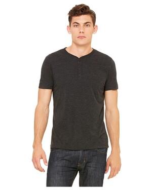 Men's Tri-Blend Short-Sleeve Henley