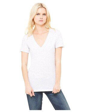 Ladies  4.2 oz. Jersey Deep V-Neck T-Shirt