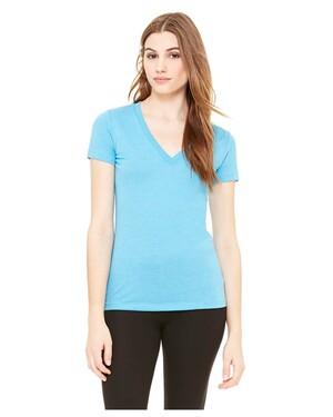 Women's Tri-Blend Deep V-Neck T-Shirt