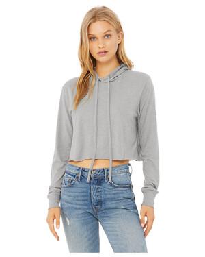 Women's Cropped Long-Sleeve T-Shirt Hoodie