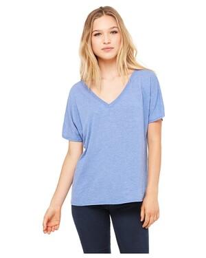 Women's Flowy Simple V-Neck T-Shirt