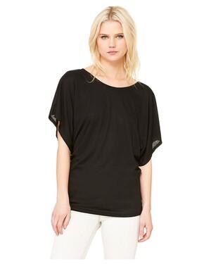 Ladies  3.7 oz. Flowy Draped Sleeve Dolman T-Shirt