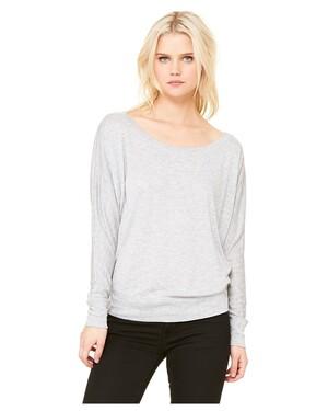 Women's Flowy Long-Sleeve Off Shoulder T-Shirt