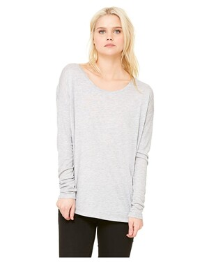 Women's Flowy Long-Sleeve T-Shirt with 2x1 Sleeves