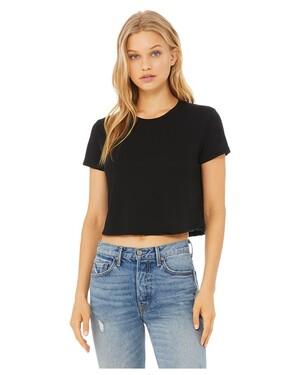 Ladies' Flowy Cropped T-Shirt