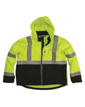 Men's Hi-Vis Class 3 Hooded Softshell Jacket