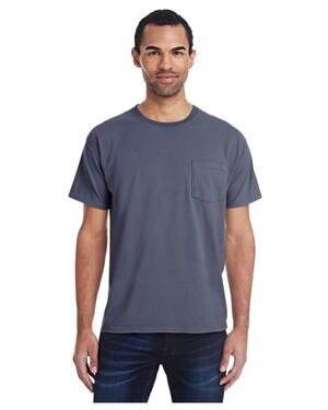 Unisex 5.5 oz., 100% Ringspun Cotton Garment-Dyed T-Shirt with Pocket