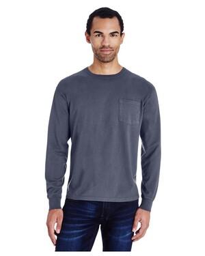 Unisex 5.5 oz., 100% Ringspun Cotton Garment-Dyed Long-Sleeve T-Shirt with Pocket